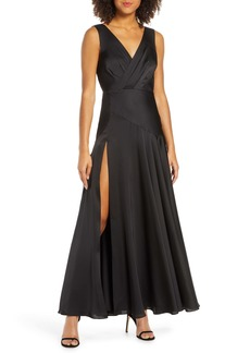 Fame and Partners Pleat Chiffon Gown