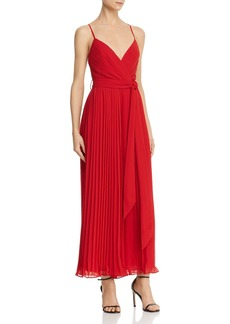 Fame and Partners Pleated Cross-Back Jumpsuit