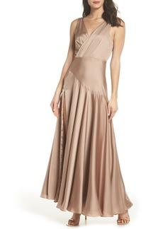 Fame and Partners The Escala Satin Gown
