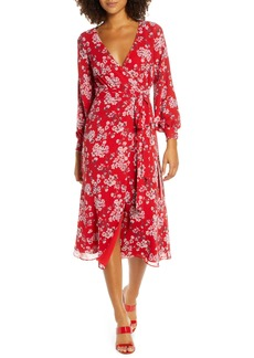 Fame and Partners The Evelyn Long Sleeve Wrap Dress