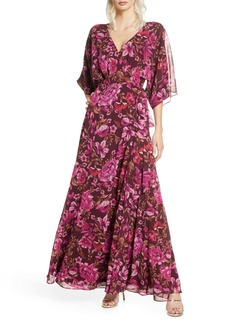 Fame and Partners The Jagger Floral Wrap Gown