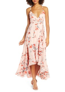 Fame and Partners The Rosalia High/Low Wrap Dress
