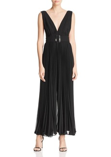 Fame and Partners The Wilcox Sleeveless Pleated Jumpsuit