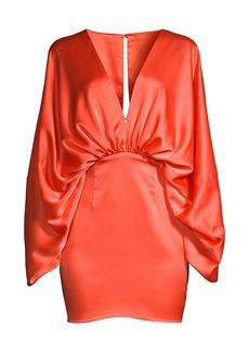 Fame and Partners Karina Ruched Satin Dress