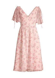 Fame and Partners Mairie Floral Chiffon Dress