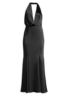 Fame and Partners Orchid Drape Evening Dress