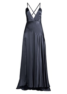 Fame and Partners Peony Strappy Evening Gown