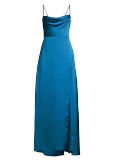 Fame and Partners The Rosabel Cowlneck Spaghetti-Strap Gown