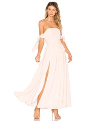 Fame and Partners X REVOLVE Sandra Maxi Dress in Pale Link