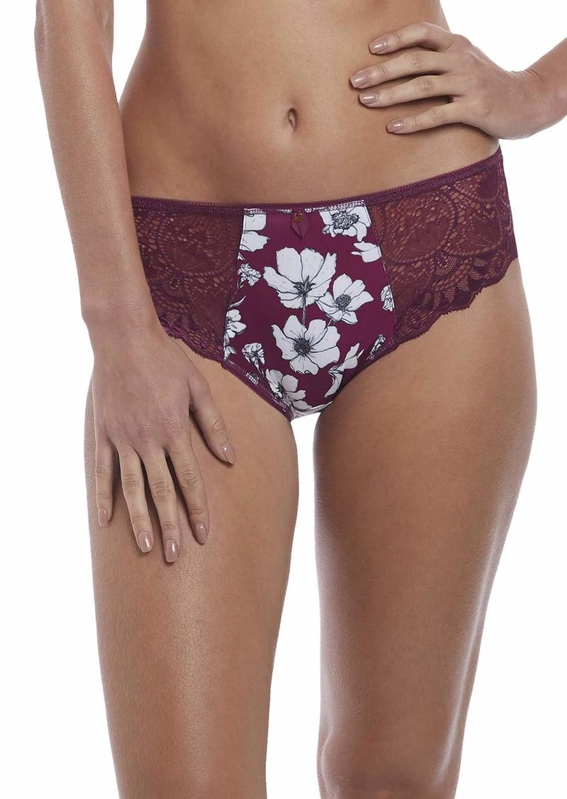 Fantasie Women's Olivia Floral and Lace Cranberry Brief  M
