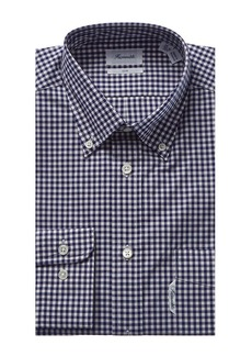 Façonnable Men's Faconnable Exclusive Small Gingham English Weaving Casual Dress Shirt