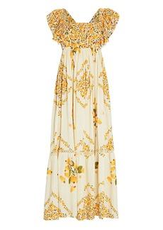 FARM Rio Cashew Cross-Back Floral Maxi Dress