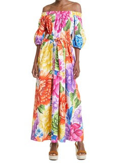 FARM Rio Rainbow Chita Floral Cotton Maxi Dress