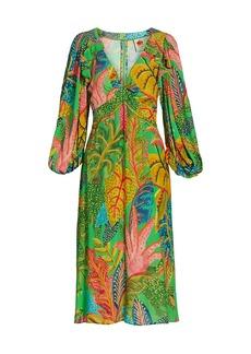 FARM Rio Forest Dream Midi Dress