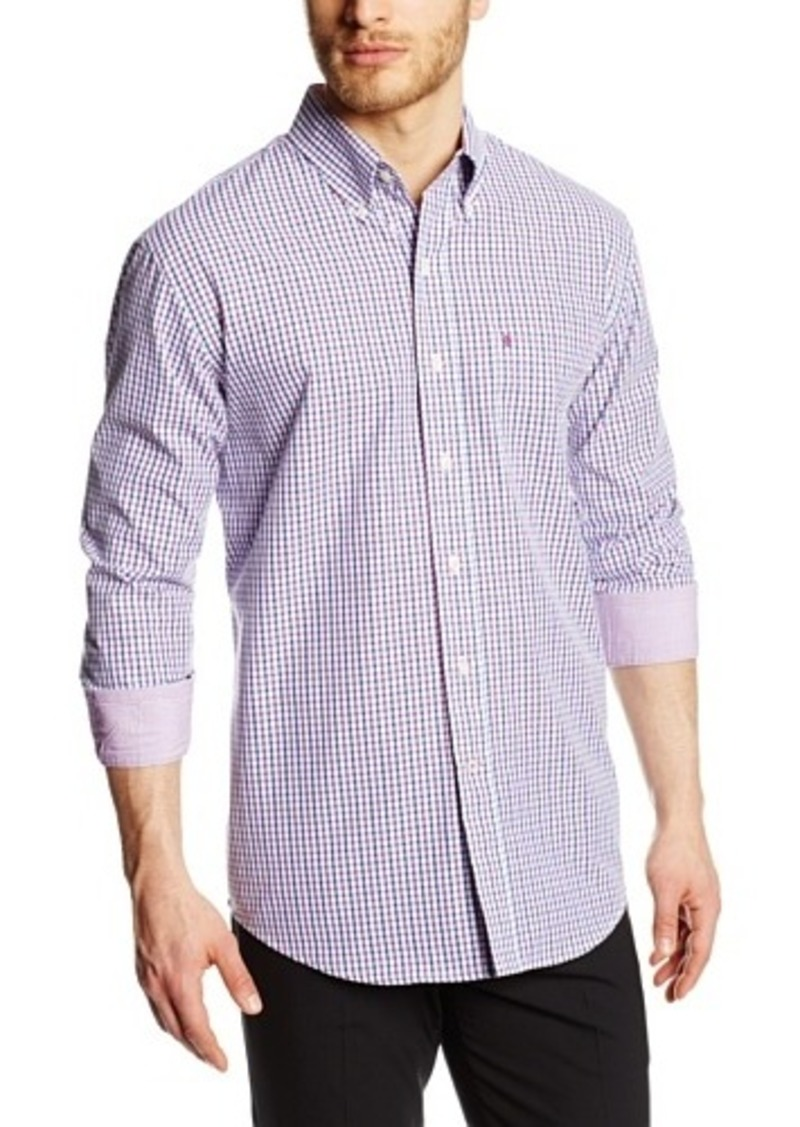 Izod izod men 39 s long sleeve tattersall button down for Izod button down shirts