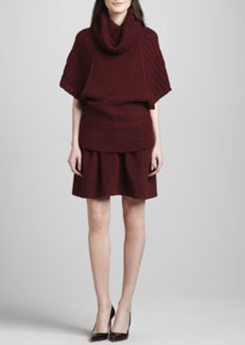 Catherine Malandrino Antigone Pleated Felt Skirt   Antigone Pleated Felt Skirt