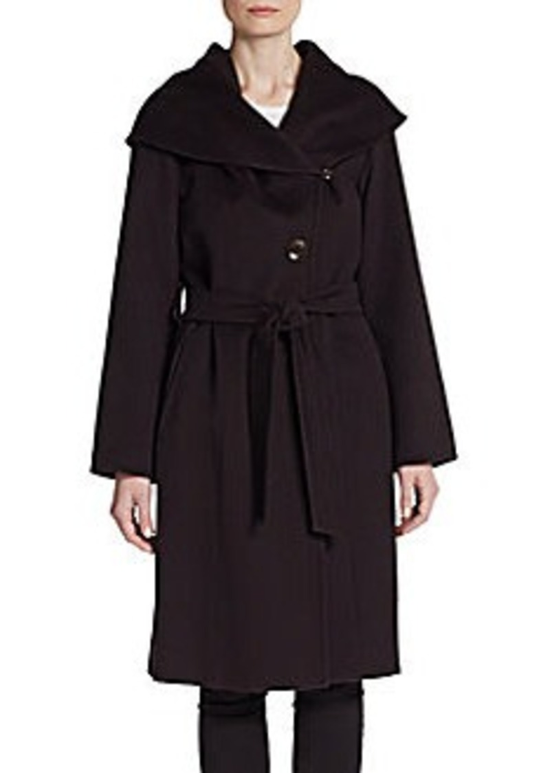 Cinzia Rocca Fleece Wool Belted Coat