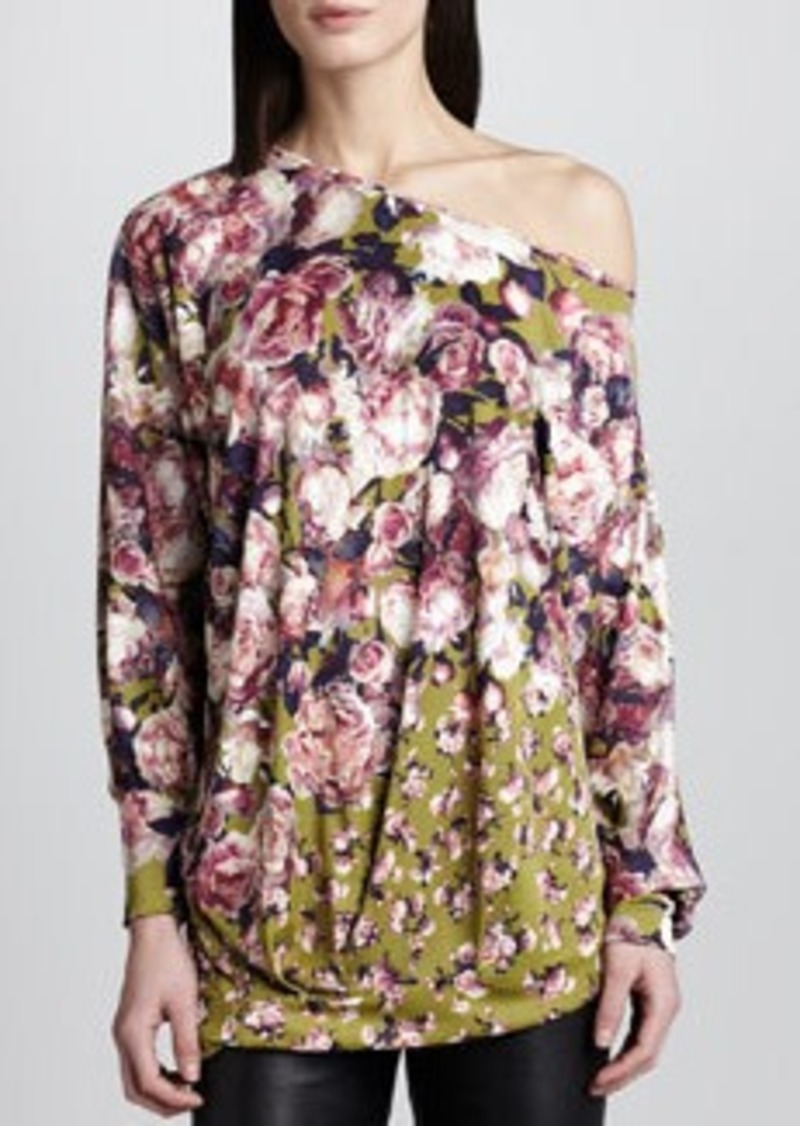 Jean Paul Gaultier Off-Shoulder Floral-Print Top