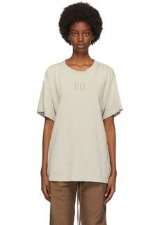 Fear of God Beige Felted 'FG' T-Shirt
