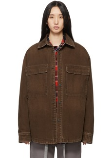 Fear of God Brown Washed Canvas Shirt