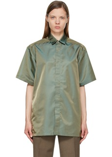 Fear of God Green Nylon Short Sleeve Shirt
