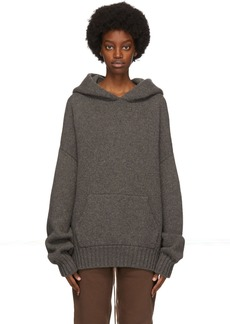 Fear of God Grey Brushed Knit Hoodie