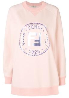 Fendi embellished FF logo sweatshirt