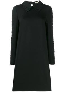 Fendi lace sleeve shirt dress