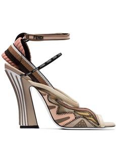 Fendi 105 mesh slingback sandals