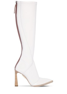 Fendi 105mm Faux Patent Leather Tall Boots