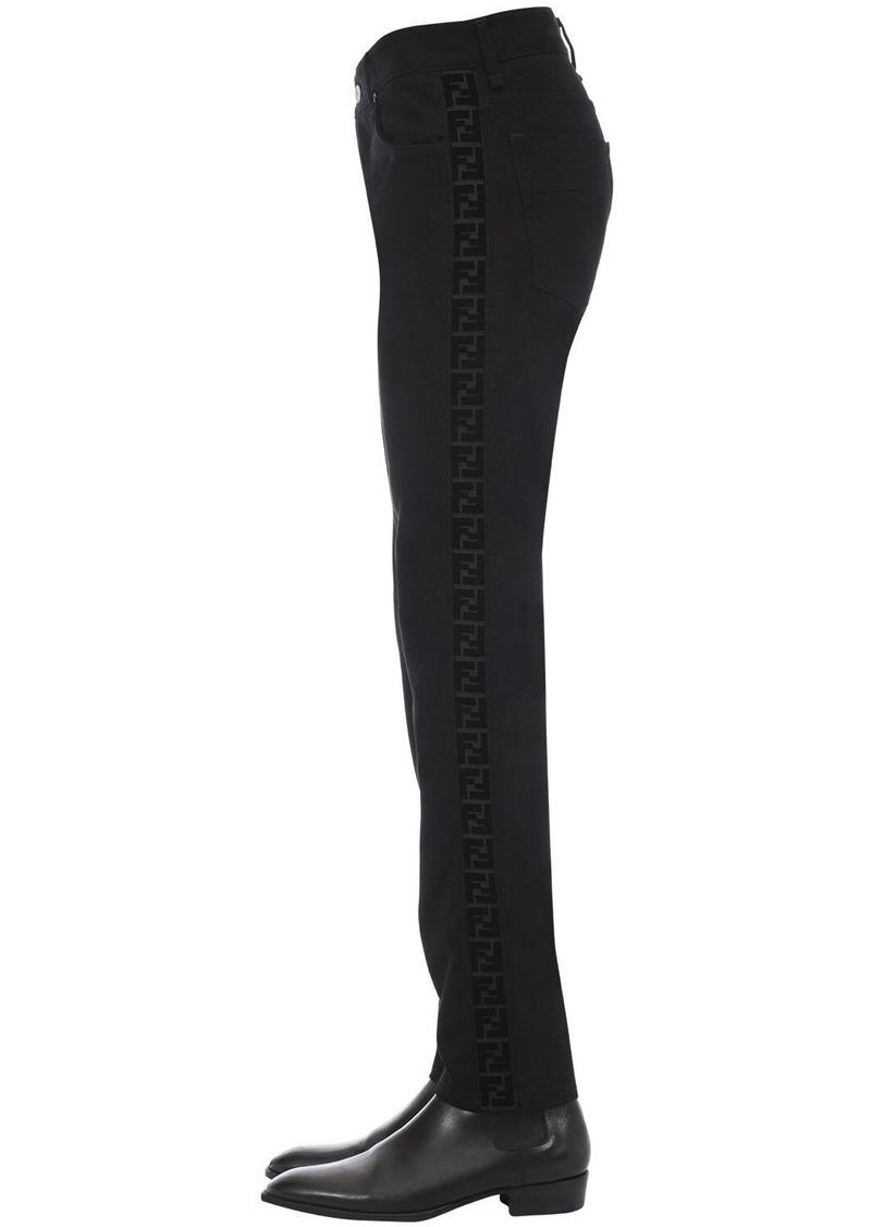 Fendi 17.5cm Slim Logo Tape Jeans