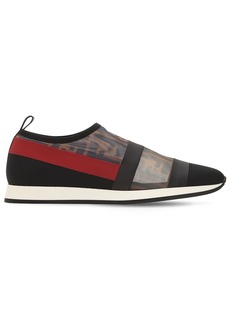 Fendi 20mm Logo Stretch Mesh Slip-on Sneakers