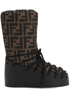 Fendi 30mm Ff Nylon & Leather Snow Boots