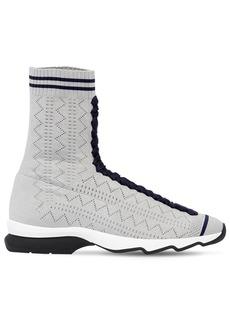 Fendi 30mm Stretch Knit Sneakers