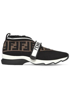 Fendi 35mm Ff Knit Strap Sneakers
