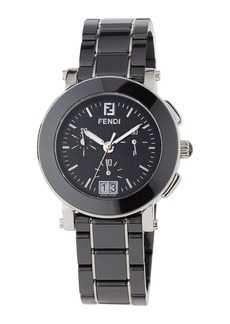 Fendi 38mm Ceramic Chronograph Watch