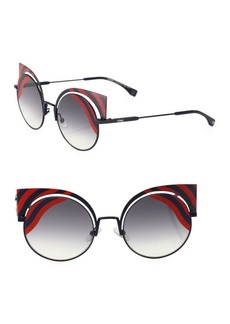 Fendi 42MM Rounded Cat Eye Sunglasses