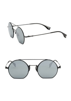 Fendi 48MM Flat Round Sunglasses