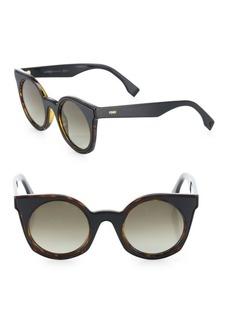 48MM Rounded Cat's-Eye Sunglasses