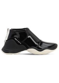 Fendi 50mm Faux Patent Leather Sneakers