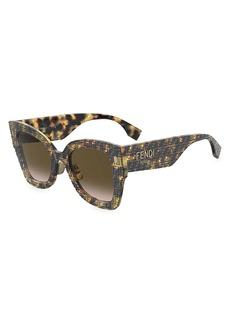Fendi 51MM Butterfly Sunglasses
