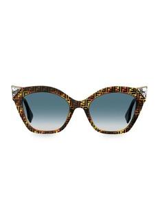 Fendi 52MM Cat Eye Crystal Embellished Sunglasses