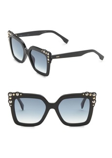 Fendi 52MM Crystal-Embellished Square Sunglasses