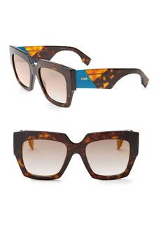 Fendi 52MM Square Sunglasses