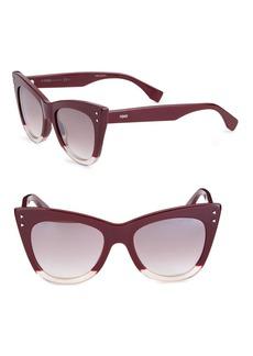 Fendi 52MM Two-Tone Cat Eye Sunglasses