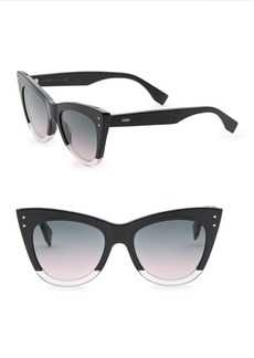 Fendi 52MM Two-Tone Cat Eye Sunglasses