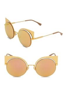 53MM Mirrored Cat's-Eye Sunglasses