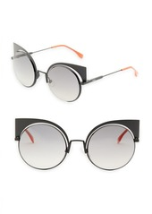 Fendi 53MM Mirrored Cat's-Eye Sunglasses