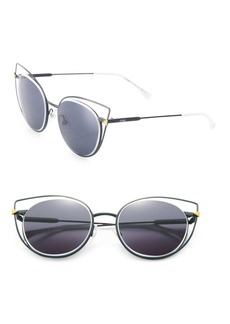 Fendi 53MM Wired Cat Eye Frame Sunglasses