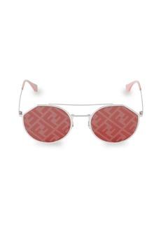 Fendi 54MM Notched Aviator Sunglasses